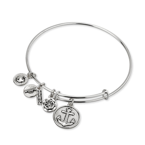 MULTI CHARM TITANIC BANGLE BRACELET