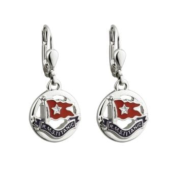 WHITE STAR LINE FLAG EARRINGS
