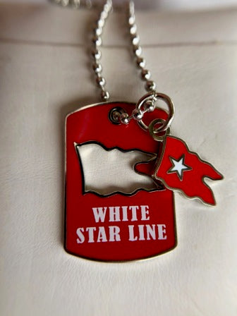 WHITE STAR LINE FLAG CUT OUT NECKLACE