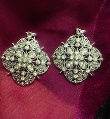 CRYSTAL EARRINGS MADE TO MATCH OUR REPLICA NECKLACE