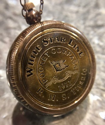 WHITE STAR LINE COMPASS NECKLACE