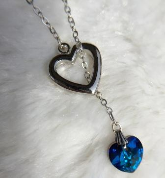 LARIAT HEART NECKLACE