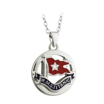 RMS WHITE STAR LINE FLAG NECKLACE