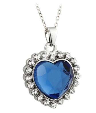 PRECISION CUT CRYSTAL HEART NECKLACE