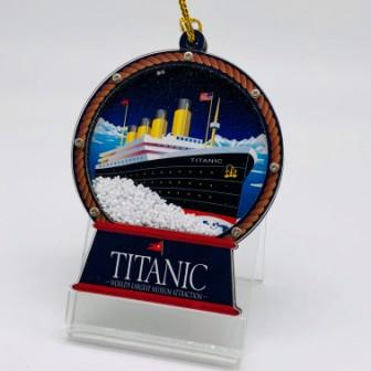 HOLIDAY SAND FILLED TITANIC ORNAMENT