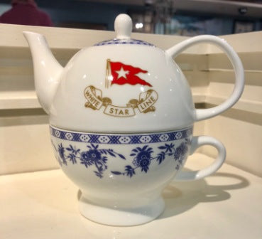 SECOND CLASS BLUE DELFT PATTERN TEA FOR ONE