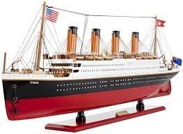 HANDPAINTED  TITANIC COLLECTIBLE WOODEN MODEL 32""