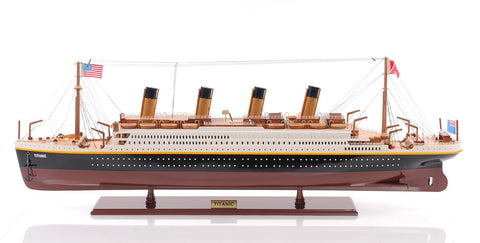 HANDPAINTED TITANIC COLLECTIBLE WOODEN MODEL 42""