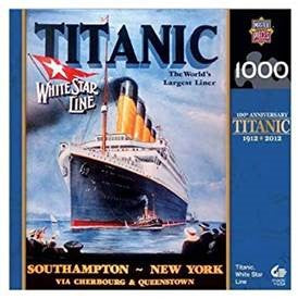 WHITE STAR LINE POSTER SOUTHAMPTON TO NEW YORK PUZZLE