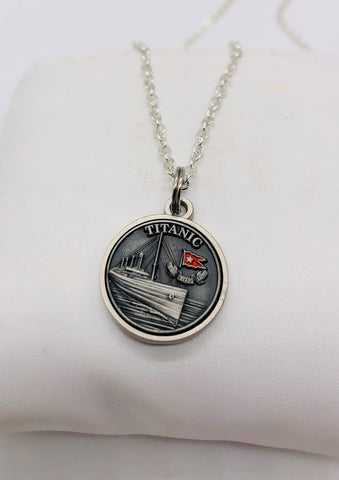 TITANIC PEWTER CHARM NECKLACE