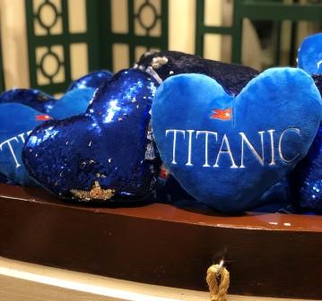 TITANIC HEART SEQUIN PILLOW