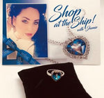 BLUE SWAROVSKI CRYSTAL ELEMENT HEART CHIP RING