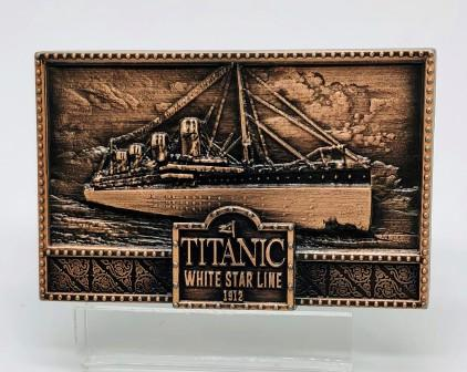 TITANIC EMBOSSED COPPER MAGNET