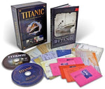 TITANIC 100 YEARS BELOW  DELUXE CENTENARY EDITION DVD, BOOK, AND MEMORABILIA