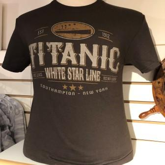 ADULT T SHIRT WHITE STAR LINE IMAGE SIZE SMALL TO XLARGE