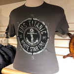 ADULT WHITE STAR LINE COMPASS T SHIRT SIZE XXLARGE