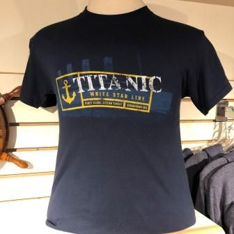 ADULT TITANIC NAVY T SHIRT WITH ANCHOR SIZE XXLARGE