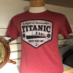 ADULT WHITE STAR LINE RED T SHIRT SIZE SMALL TO XLARGE