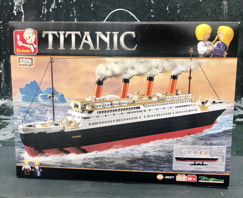 SPECIAL PRICE NOV. 25-29   TITANIC BLOCK KIT 1012 PIECES WITH FIGURINES