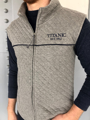 TITANIC QUILTED GREY VEST