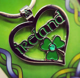 IRISH HEART KEYRING