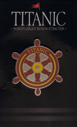TITANIC SHIP WHEEL LAPEL PIN