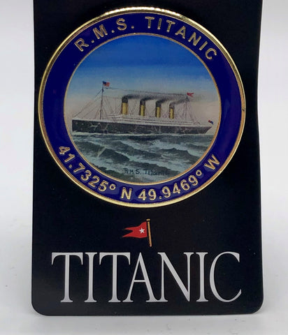 TITANIC PHOTO LAPEL PIN