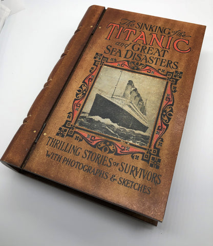 TITANIC WOODEN BOOK BOX