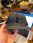 615 Hat With Black Logo