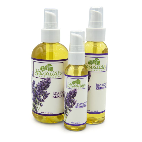 ククイオイル Kukui oil unscented, lavender and lemongrass | Hawaiian Bath & Body®