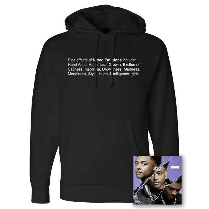 SIDE EFFECTS HOODIE - BLACK + MIXED EMOTIONS DIGITAL DOWNLOAD