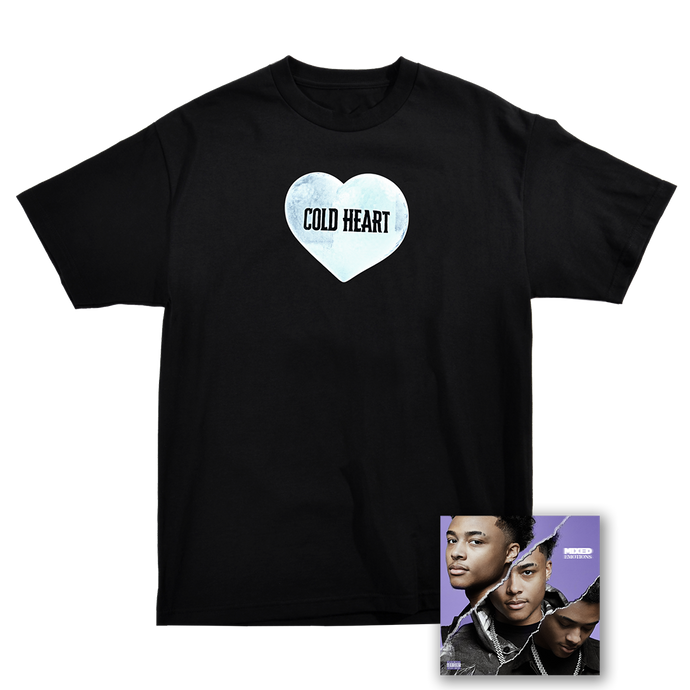 COLD HEART TEE - BLACK + MIXED EMOTIONS DIGITAL DOWNLOAD