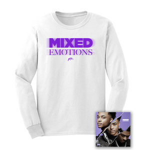 MIXED EMOTIONS LONGSLEEVE - WHITE + MIXED EMOTIONS DIGITAL DOWNLOAD