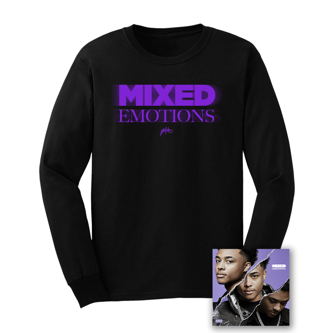 MIXED EMOTIONS LONGSLEEVE - BLACK + MIXED EMOTIONS DIGITAL DOWNLOAD