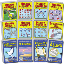 Load image into Gallery viewer, Hooked on Hebrew (12-deck pack SAVE 10%) A134H