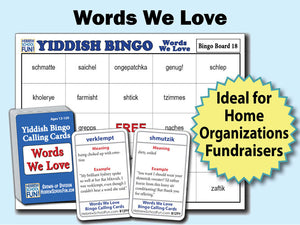 Yiddish Bingo - Words We Love