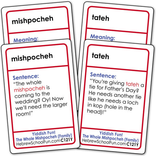 YIDDISH for Grown-ups-4 deck pack--Save 10%--A120Y