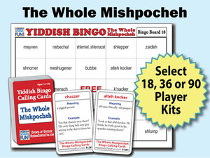 Yiddish Bingo - The Whole Mishpocheh