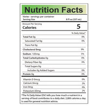 Load image into Gallery viewer, Aloe Vera Jucie Nutrition Facts