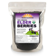 Load image into Gallery viewer, Organic Dried Elderberries - Whole European Elderberry, Responsibly Wild Crafted,  Perfect for Tea, Syrups, and More - Sambucas Nigra - 1 Pound