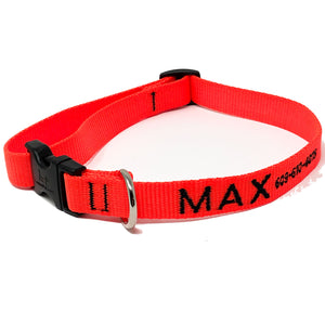 Personalized Blaze Orange Collar