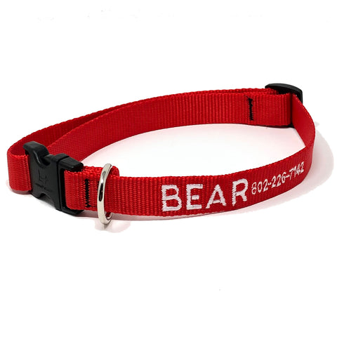 Personalized Red Dog Collar
