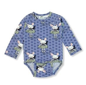 Skating rabbit Long sleeved body [it] Body a manica lunga coniglietto