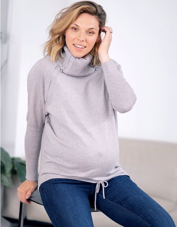 Roll Neck Nursing Sweater [it] Maglione a collo alto allattamento