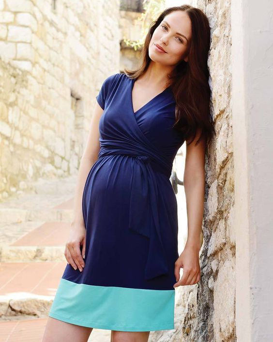 Maternity and Nursing Wrap Dress Enja  [it] Abito premaman e allattamento Enja
