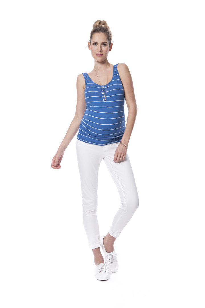 Striped Nursing Tank Top - Joanne [it] Canottiera a righe per l'allattamento – Joanne