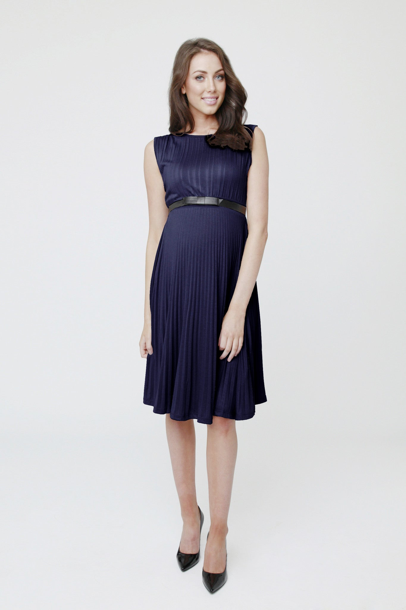 Knife Pleat Dress [it] Abito elegante premaman