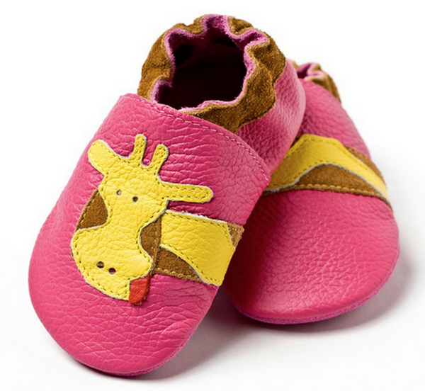 Liliputi soft baby shoes - Fuchsia Giraffe [it] Scarpine morbide in pelle Liliputi - Giraffa rosa