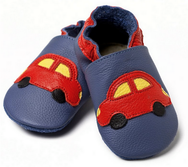 Liliputi soft baby shoes - Blue cars [it] Scarpine morbide in pelle Liliputi - Macchinina