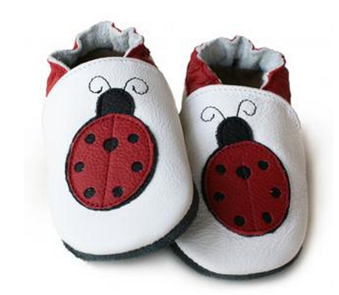 Liliputi soft baby shoes - Ladybug [it] Scarpine morbide in pelle - Coccinella